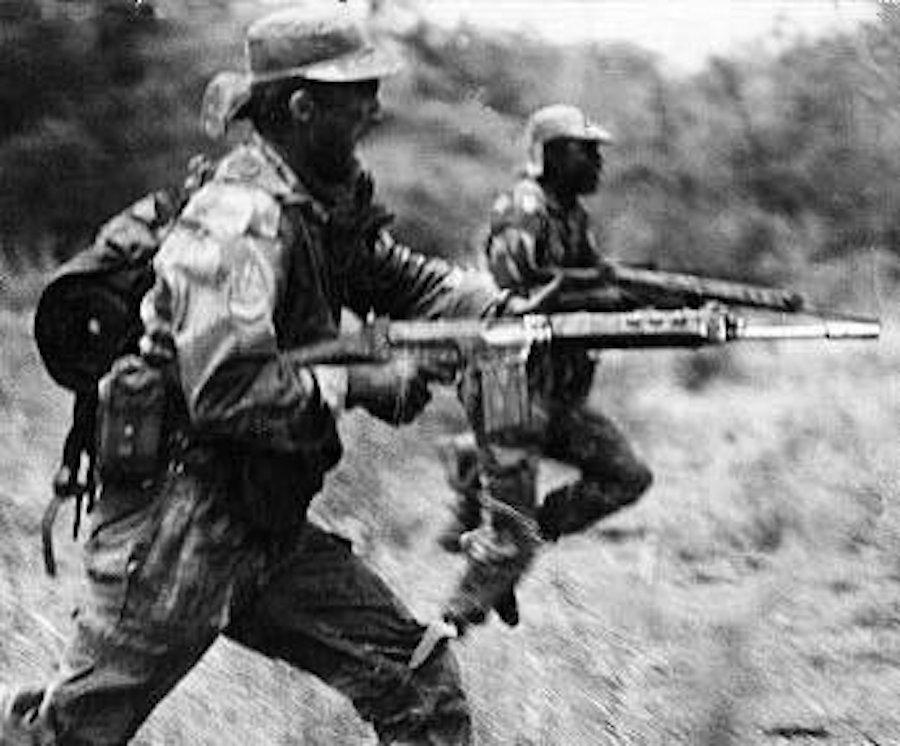 Rhodesian soldiers charging.0