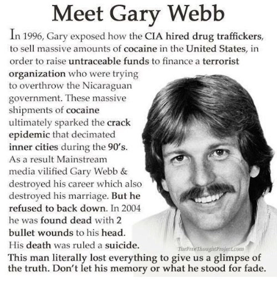 gary webb bush cocaine