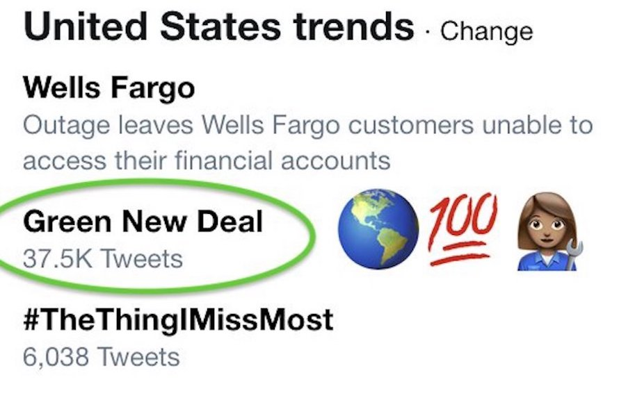 New Green Deal Trending