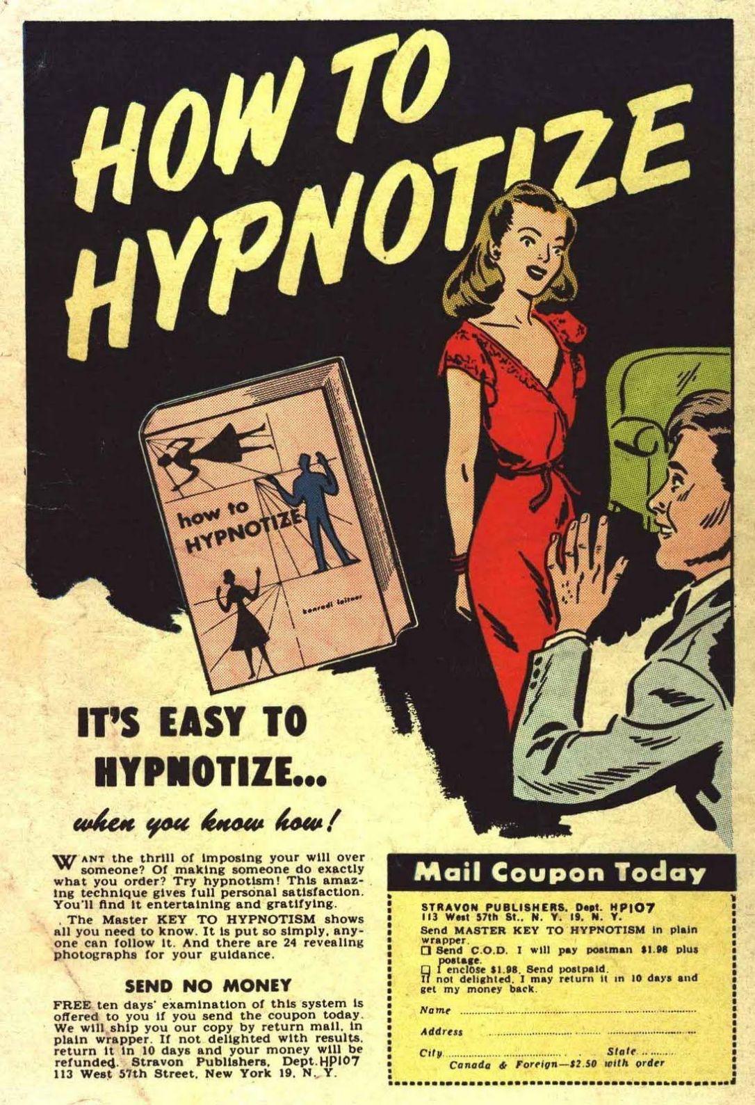 comic hypnosis ad