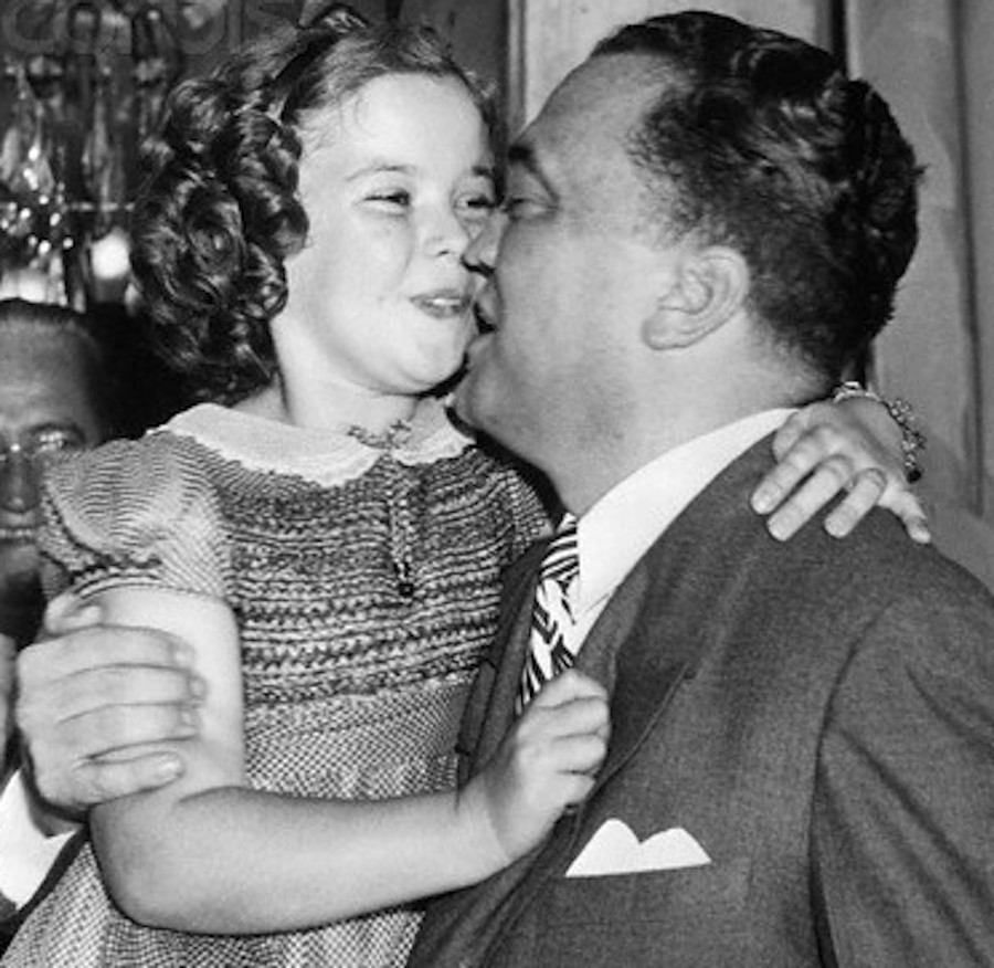 J. Edgar Hoover and Shirley Temple - Kiss 1