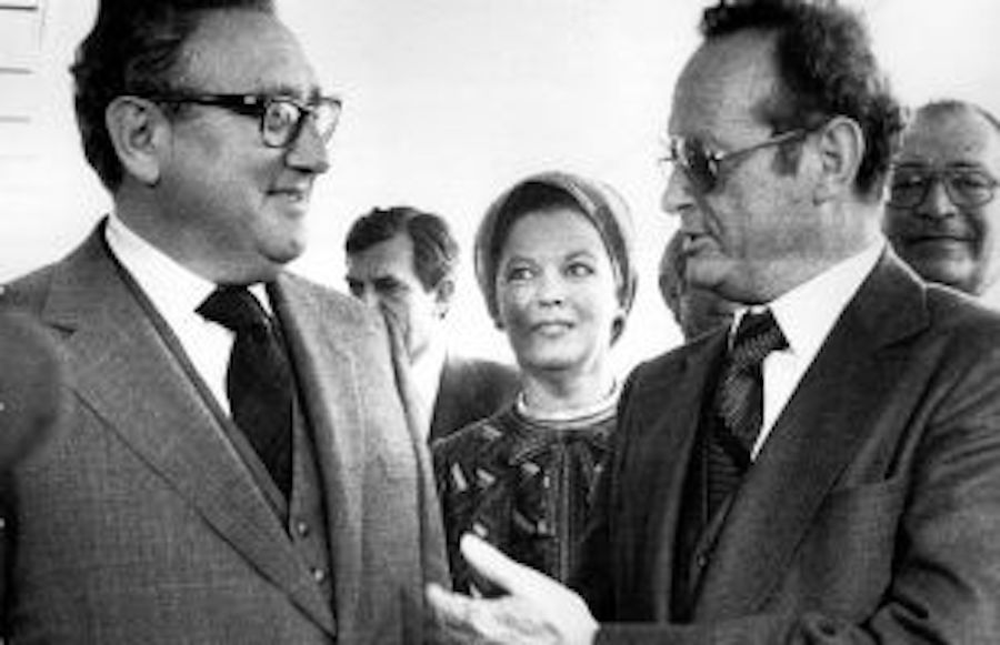 Shirley Temple with Henry Kissinger