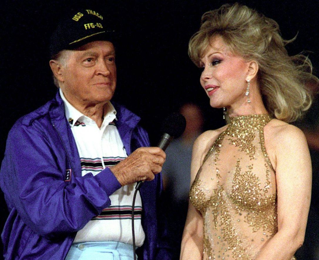 Bob Hope and Barbara Eden