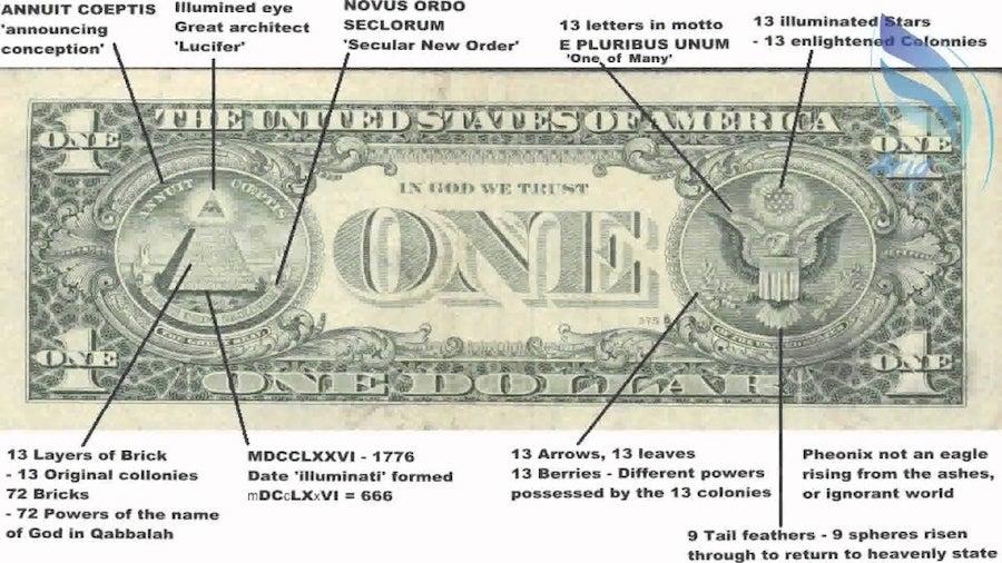 dollar bill illuminati