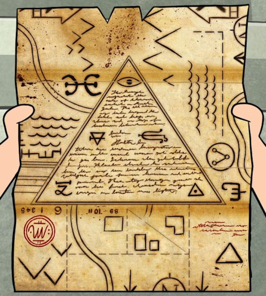 gravity falls map pyramid eye