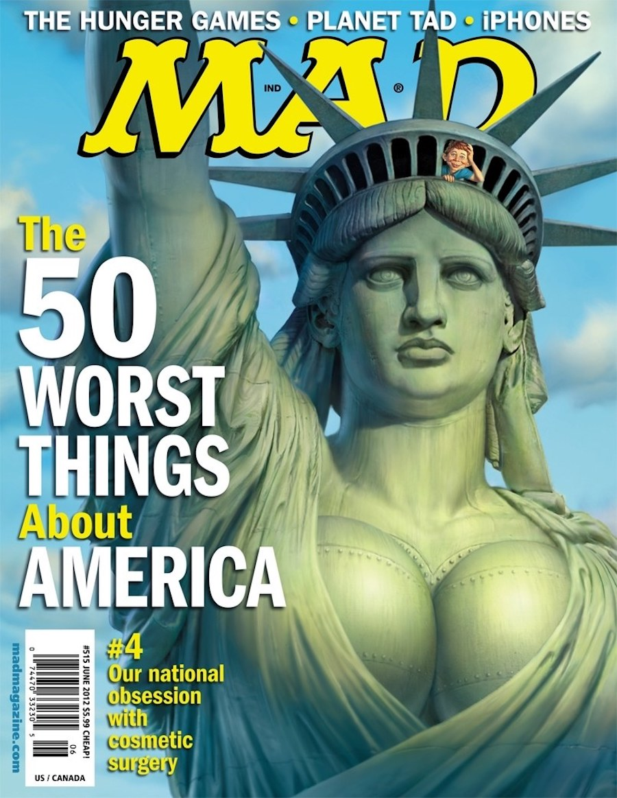 mad statue of liberty breast