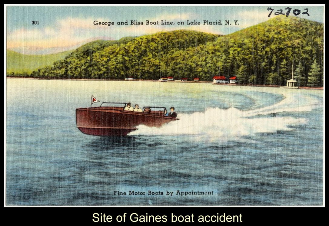 Site of Gaines Boat Accident