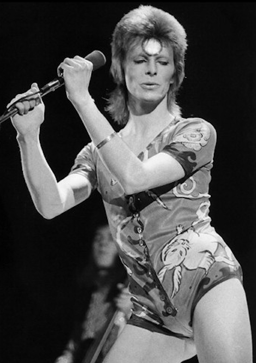 David Bowie performing on stage 1973