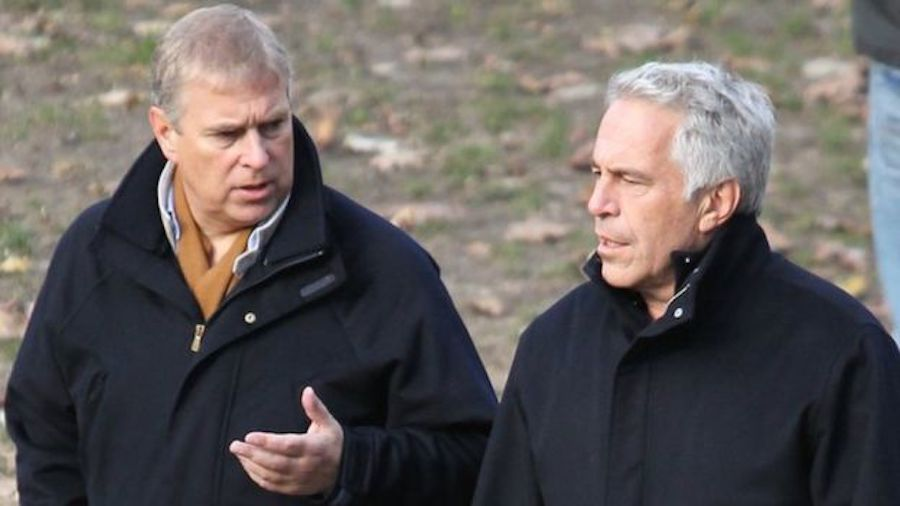 andrew windsor jeffrey epstein walking