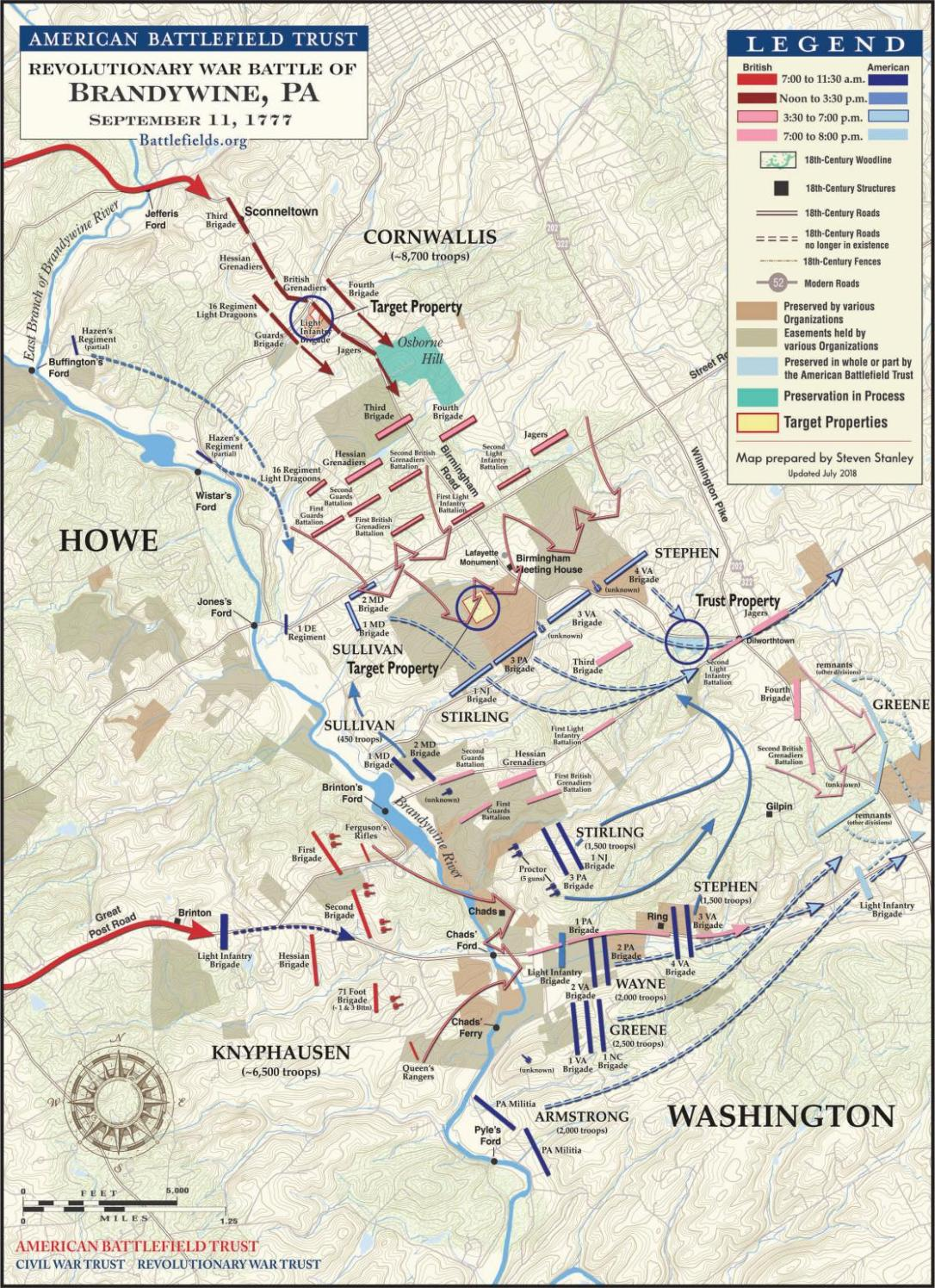 Battle of the Brandywine Map
