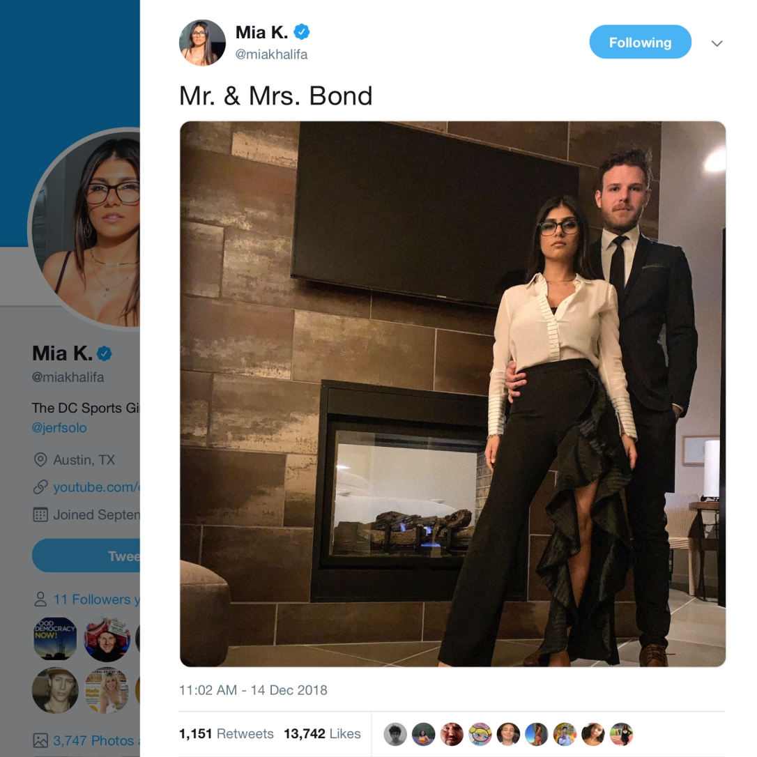 Mia K. Mr. & Mrs. Bond…