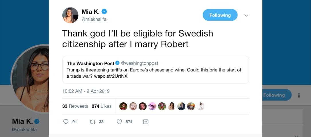 Mia K. - sweden