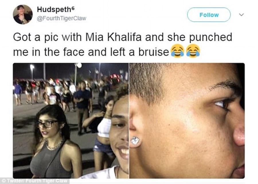 Mia Khalifa Punches Man