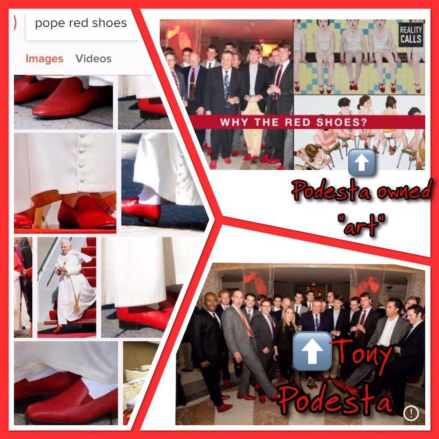pope podesta red shoes