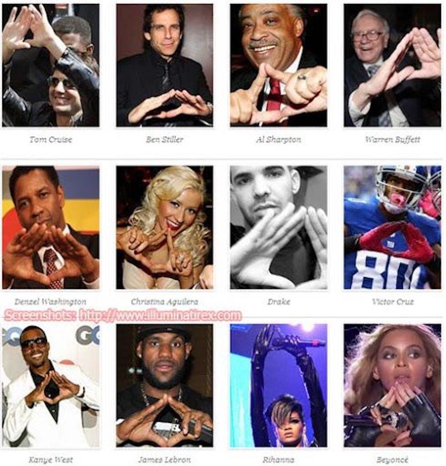 pyramid handsign