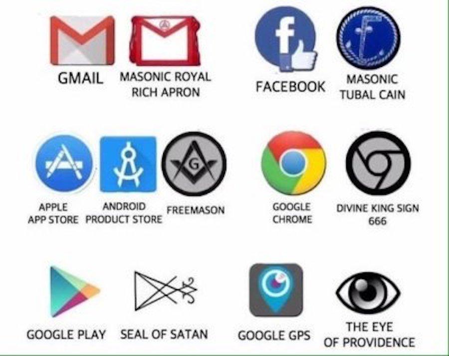satanic corporate symbols