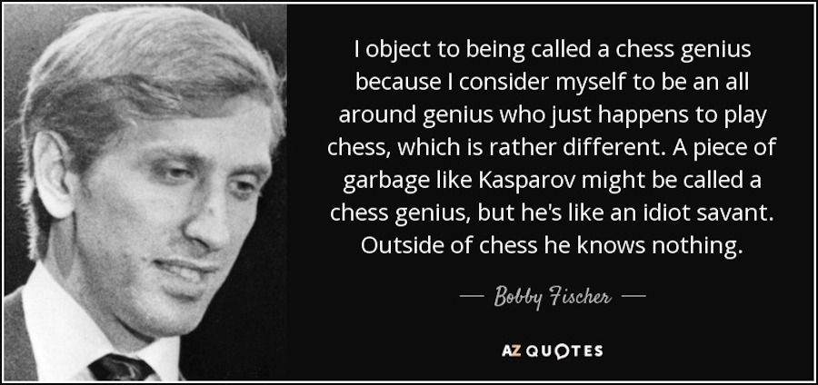 bobby fischer on genius (limitations of chess)