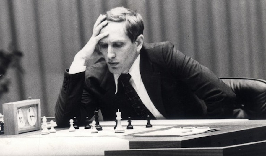 bobby fischer studying a move