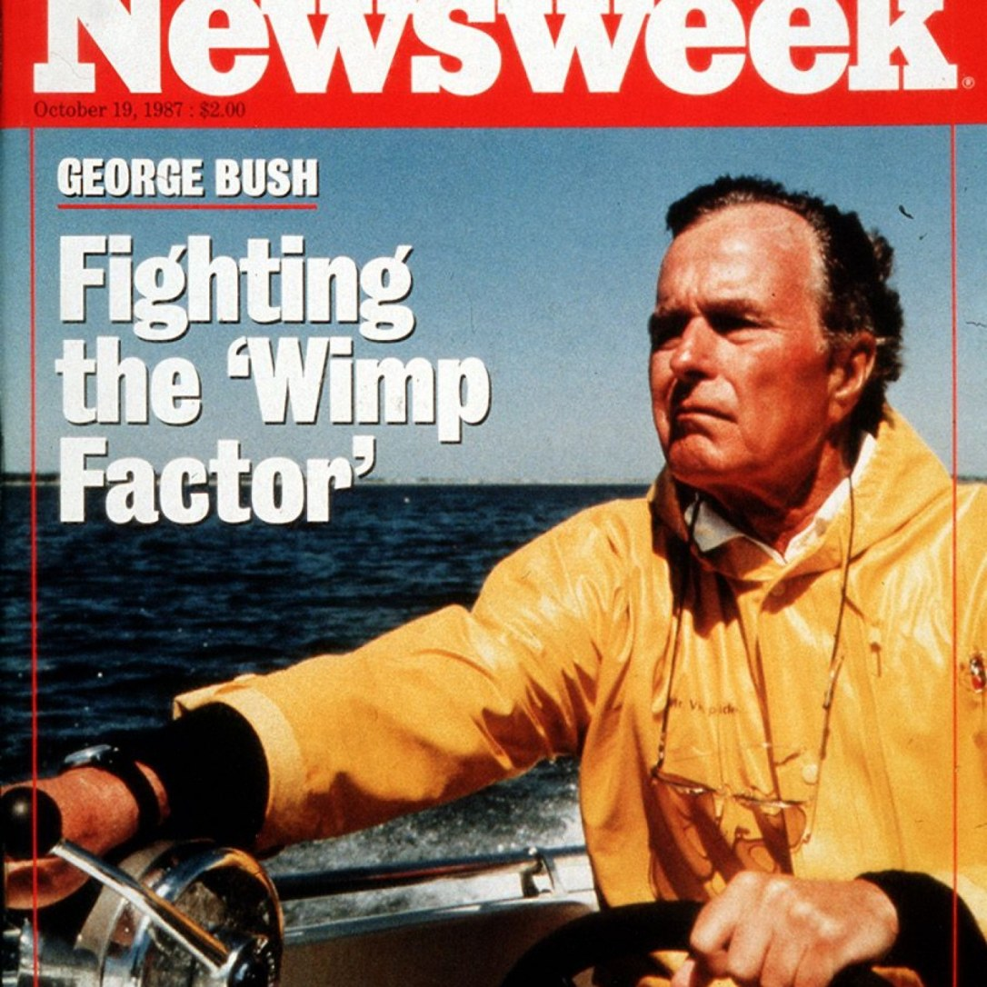 newsweek bush wimp