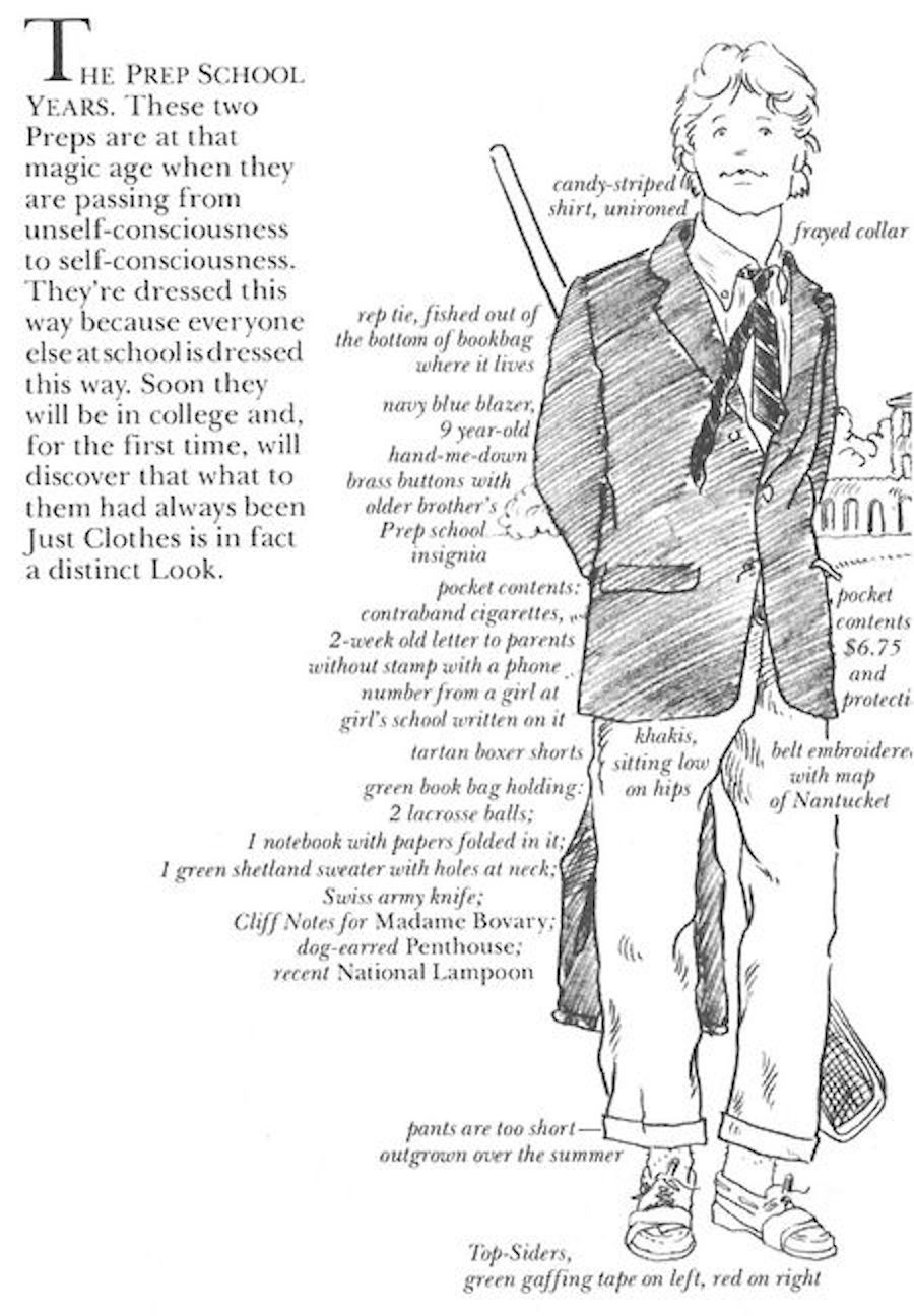preppy handbook persona 2 (boarding school boy)