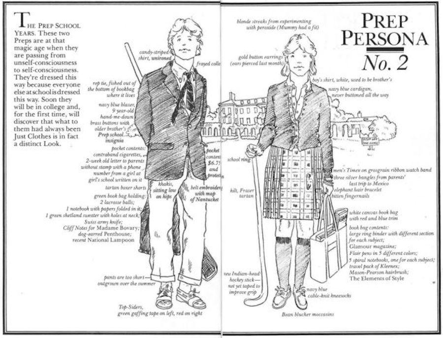 preppy handbook persona 2 (boarding school)