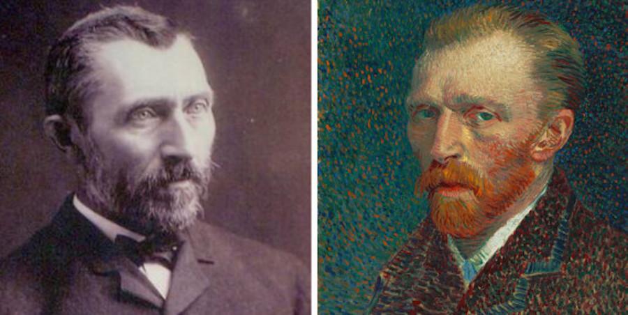 Van Gogh Photo and Self-Portrait