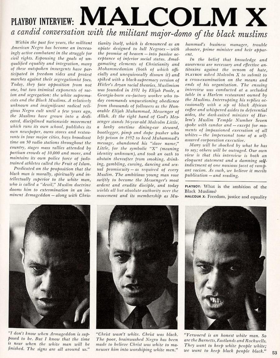 Malcolm X Playboy