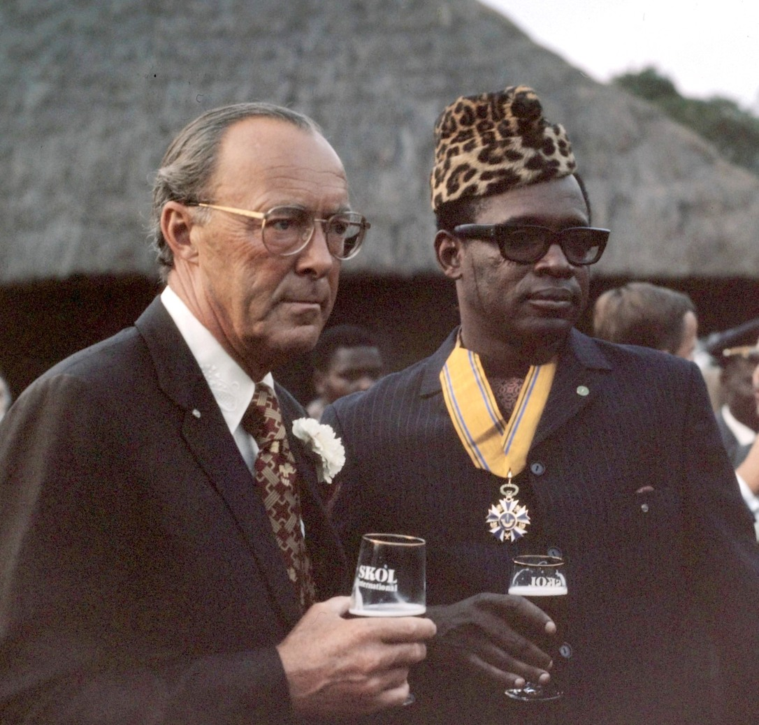 Mobutu Sese with Prince Bernhard of Holland 1973