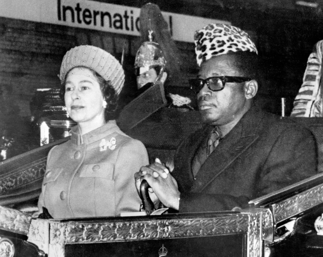 mobutu with elizabeth windsor