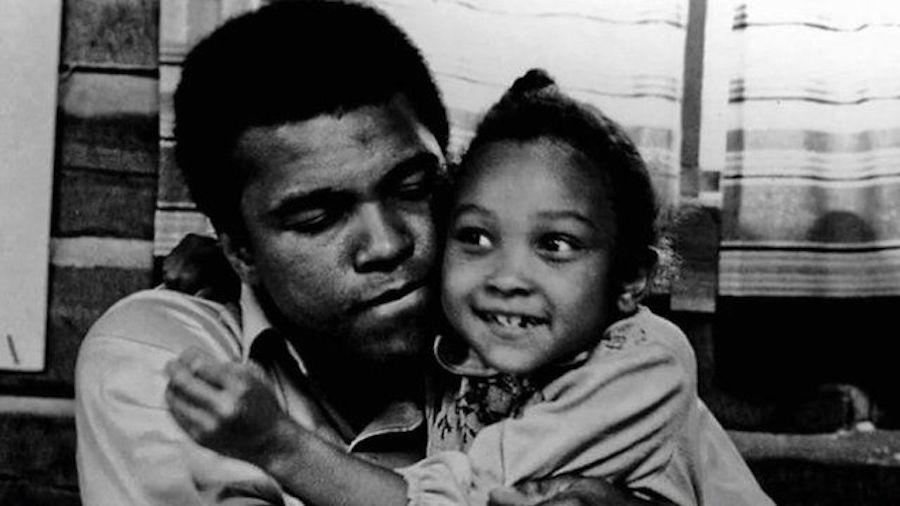 muhammad ali loves his small daughter