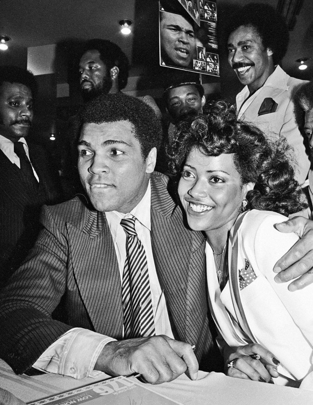 Muhammad Ali with Veronica Porche