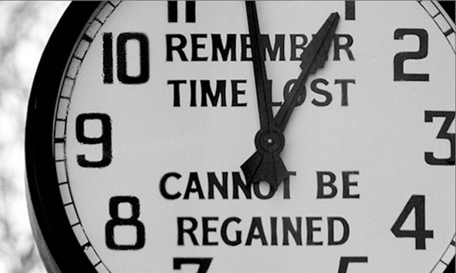 clock lost time