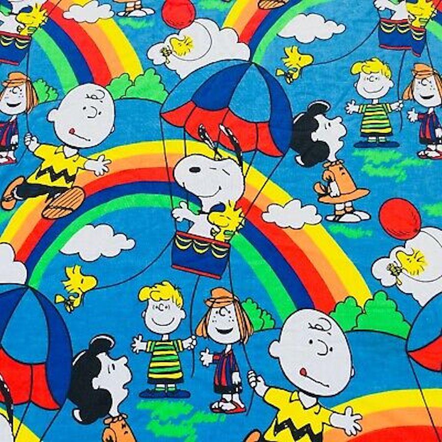 snoopy rainbow