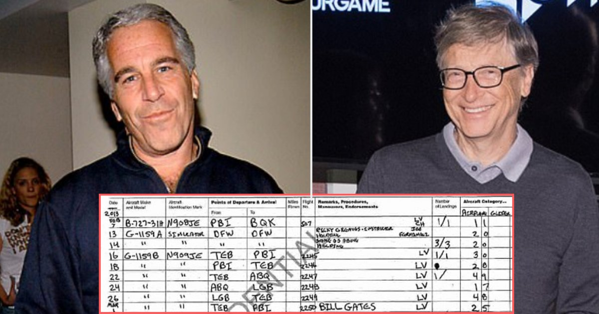 bill gates epstein flight log