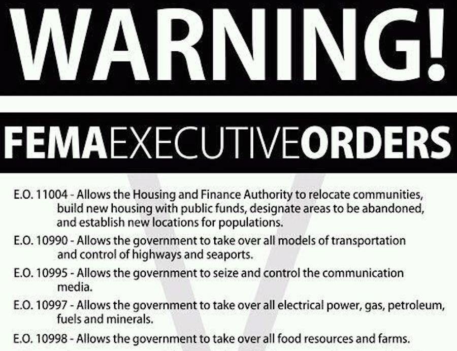 fema executive orders
