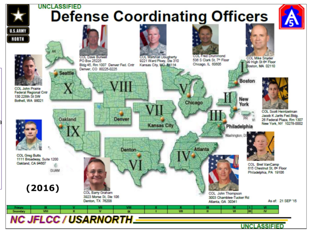 fema regions with commanders