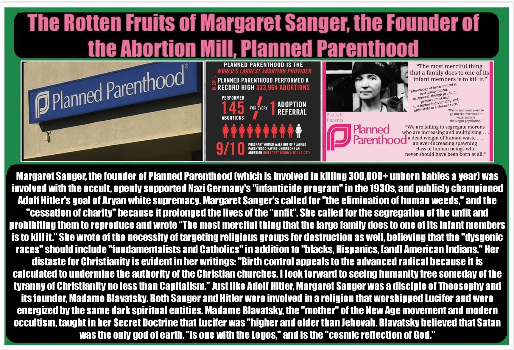 planned parenthood margaret sanger