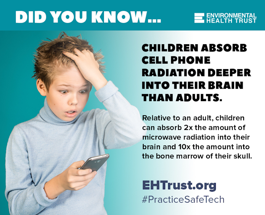 radiation children's brains