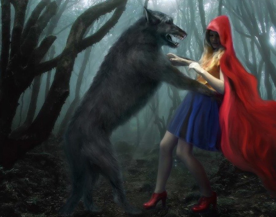 red riding hood wolf