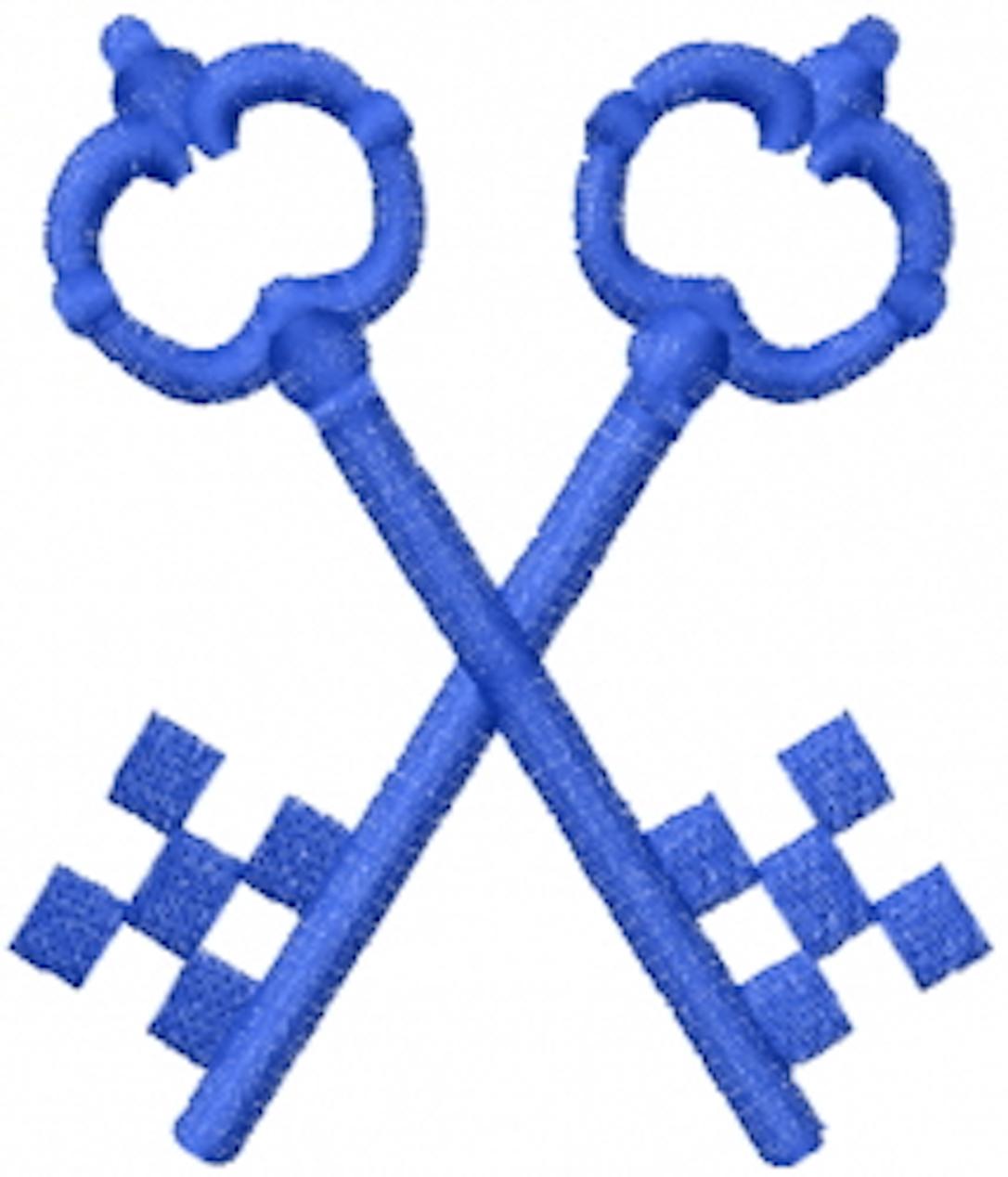 masonic crossed keys checkers
