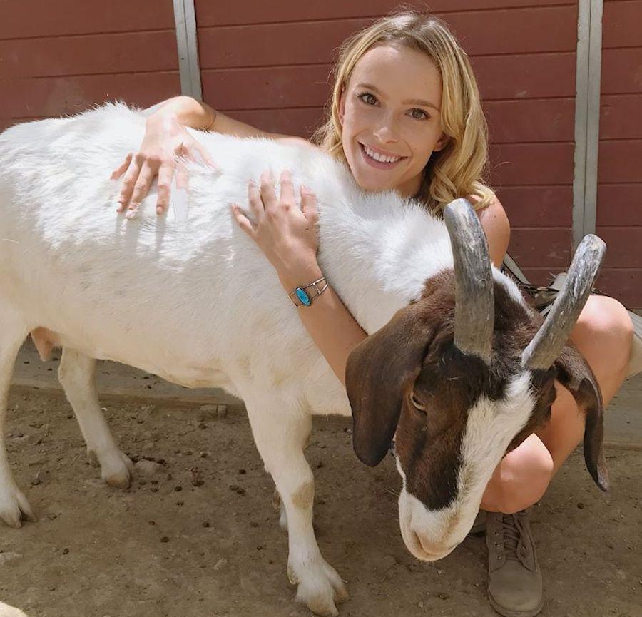 mckenzie seagren (mcintaggarts daughter) goat