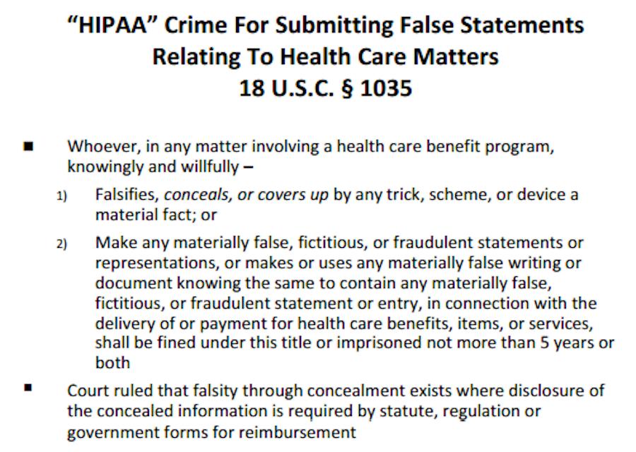 hipaa fraud