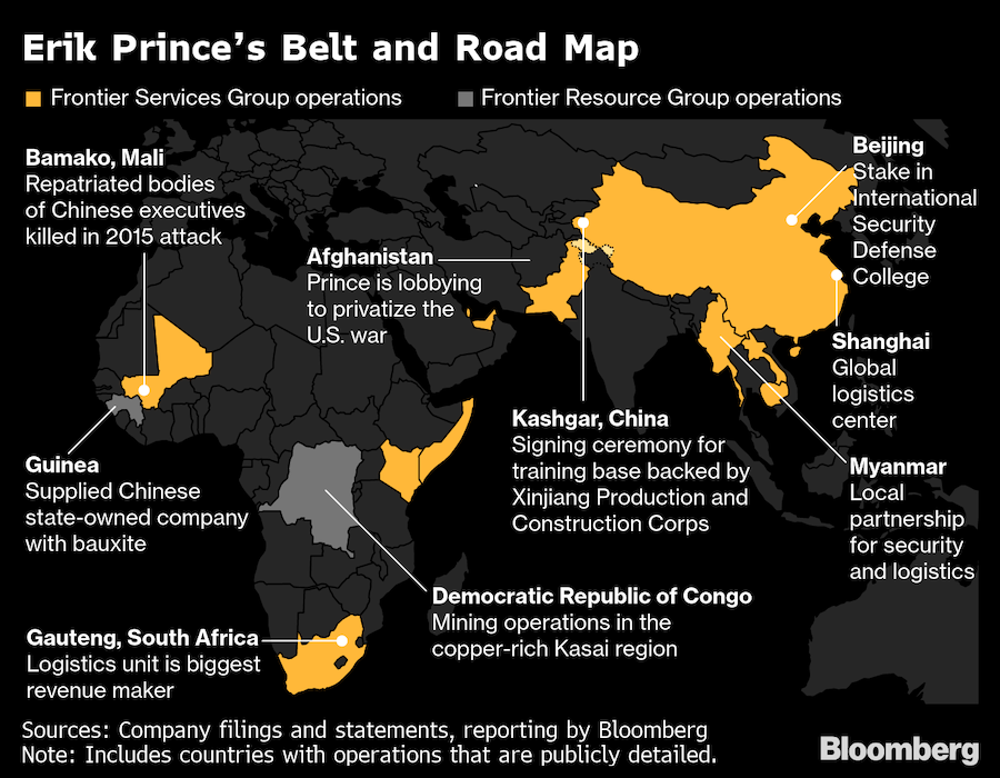 erik prince belt and road map