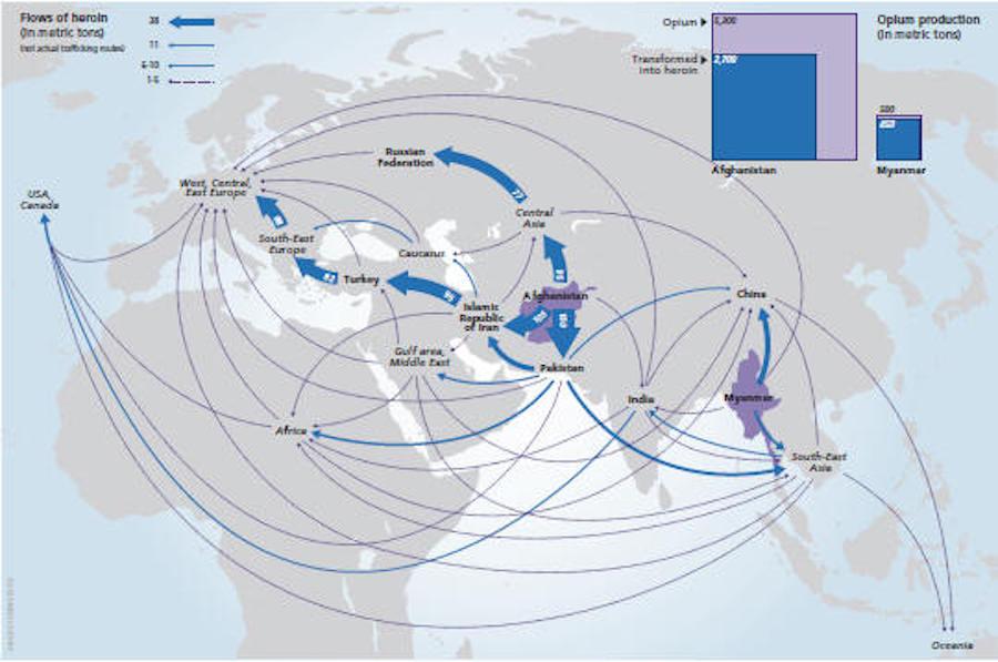 opiates map
