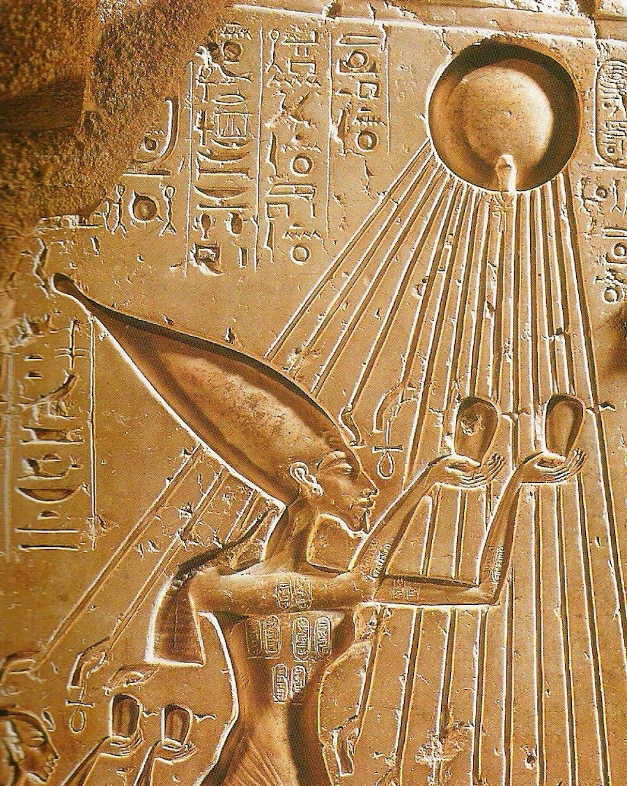 akhenaten aten solar disk