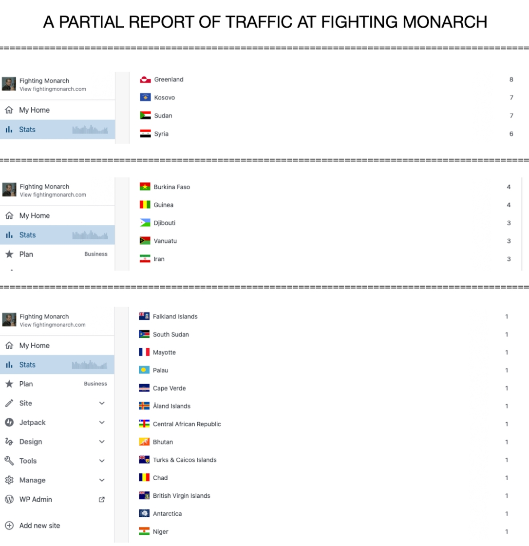 Fighting Monarch Traffic Countries