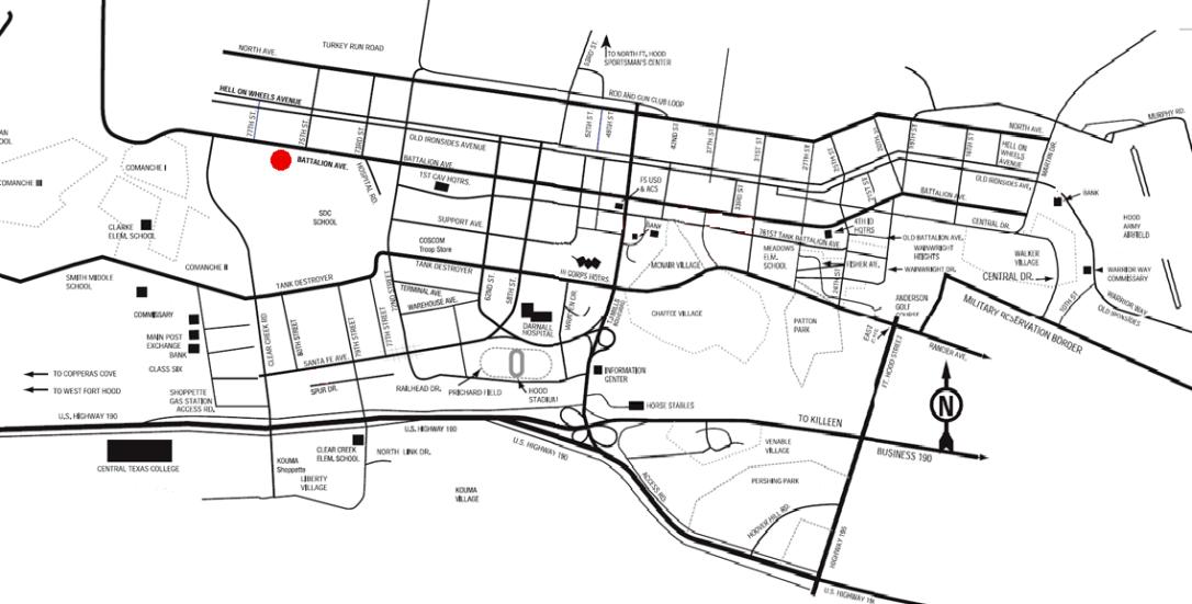 fort hood map