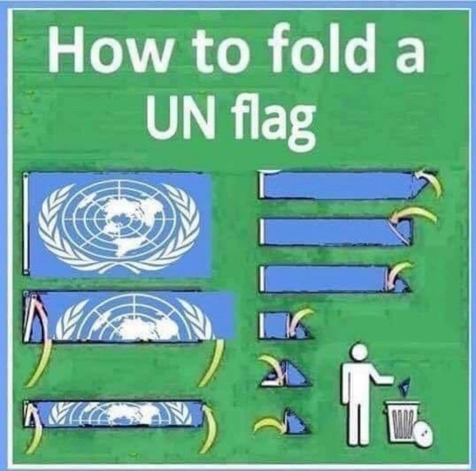 how to fold a united nations flag