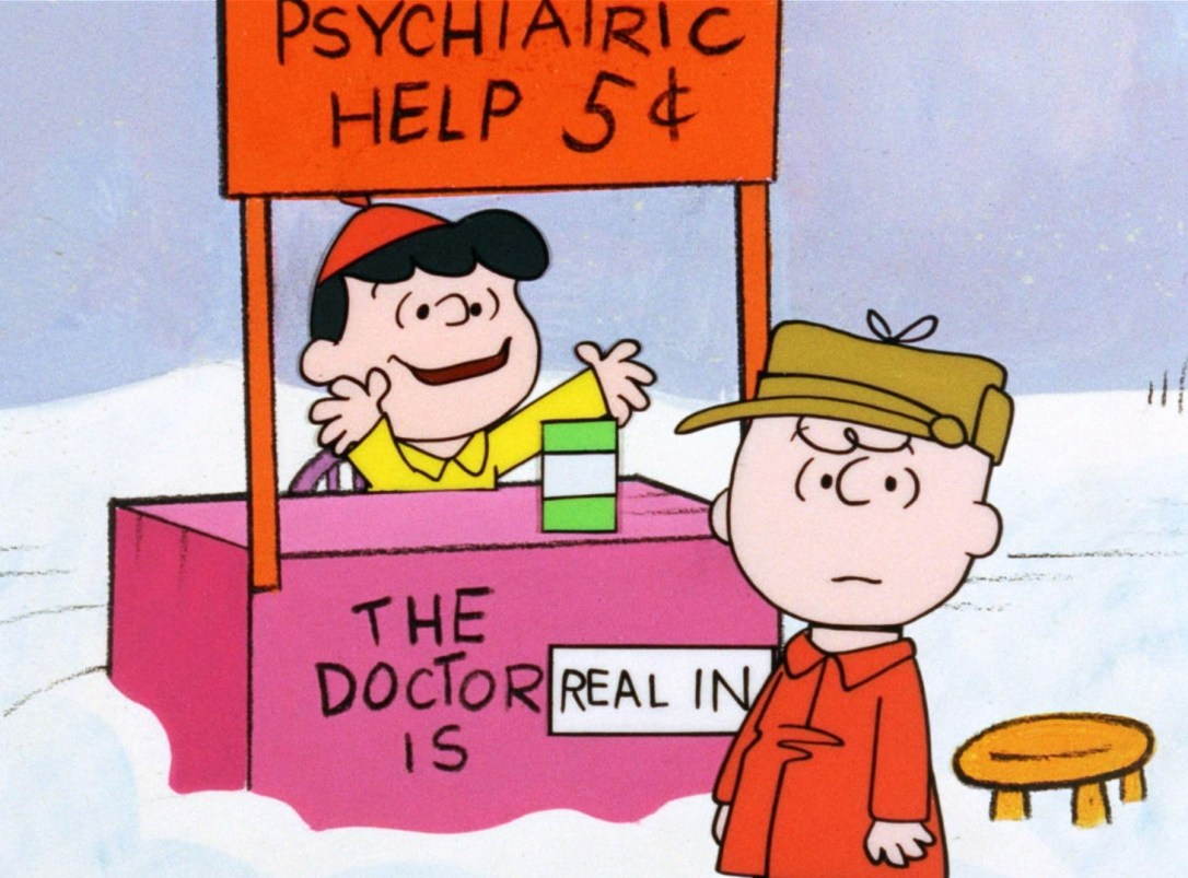lucy charlie brown psychiatric advice