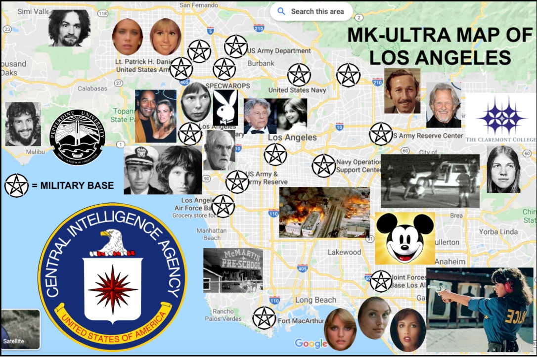 MK-ULTRA MAP OF LOS ANGELES